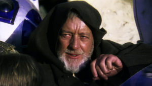 Sir Alec Guinness as Obi-wan Kenobi