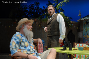 Henry Haggard as Charlies Darwin and Chip Arnold as Thomas Huxley