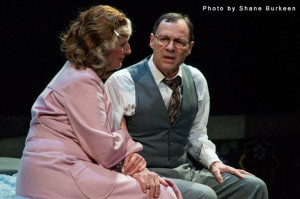 Rona Carter as Linda Loman and Chip Arnold as Willy Loman