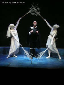 Cori Anne Laemmel and Jammie Farmer as Corps L 'Esprit and Chip Arnold as Marchand