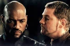 Laurence Fishburne as Othello and Kenneth Branagh as Iago