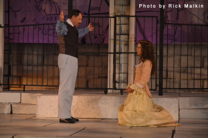 hip Arnold as Lord Capulet and Emily Landham as Juliet