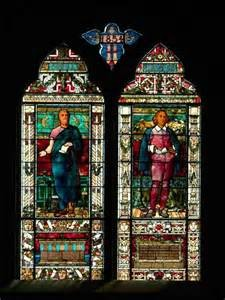 Stain Glass images of Sophocles and Shakespeare