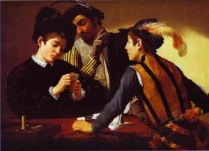 The Cardsharps; painting by Caravaggio