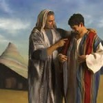 Jacob gives coat to Joseph